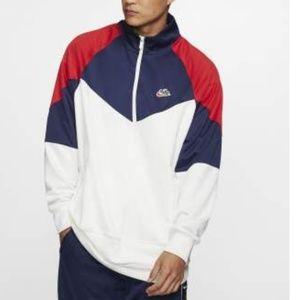 Nike Block Windrunner Jacket in White, Navy, Red